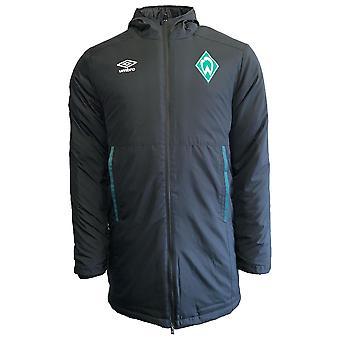 2019-2020 Werder Bremen Umbro polstret jakke (sort)