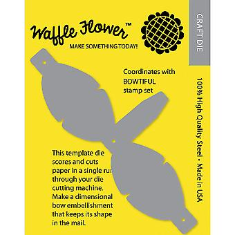 Waffle Flower Die-Mailable 3D Bow Template WF310001