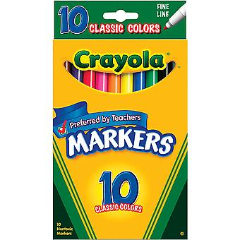 Crayola Fine Line Markers Classic Colors 10 Pkg 58 7726