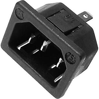 IEC connector C14 Series (mains connectors) 753 Plug, vertical mount