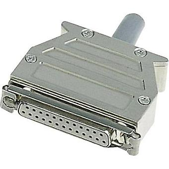 D-SUB housing Number of pins: 9 Plastic, metallised 45 ° Silver Harting 09 67 009 0453 1 pc(s)