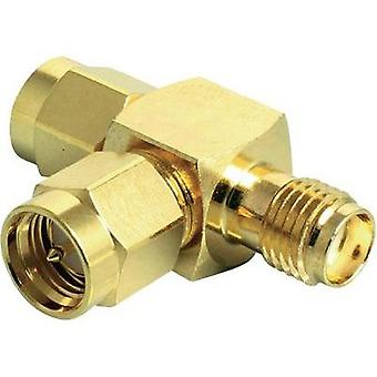 WLAN aerials Y adapter [2x SMA plug - 1x SMA socket] 0 m Gold Delock
