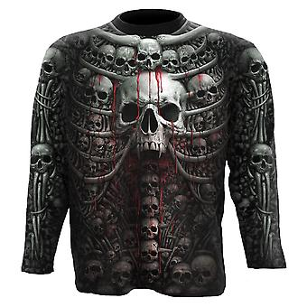 Spiral Direct Gothic DEATH RIBS - Allover Longsleeve T-Shirt Plus Size|Skulls|UnDead|Horror|Blood