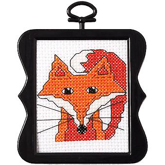 Beginner Minis Fox Counted Cross Stitch Kit-3