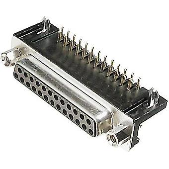 D-SUB receptacles 90 ° Number of pins: 25 Soldering ASSMANN WSW A-DF 25 A/KG-T1 1 pc(s)