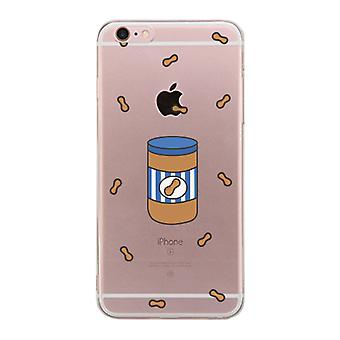 Apple iPhone 6 6S Plus Transparent Matching Phone Cover (Made For-Peanut Butter)