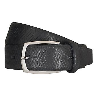 Bugatti belts men's belts leather belt cowhide black 5221