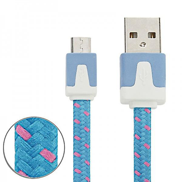 1m USB data and charger cable blue for all Smartphone and Tablet micro USB
