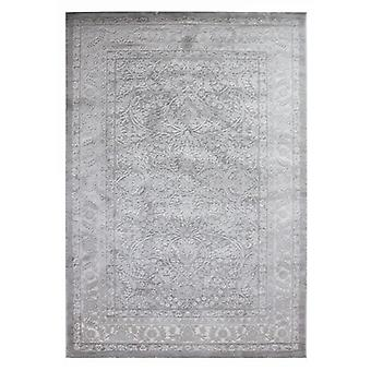 Grey Traditional Silky Wool Living Room Rug - Alpaca