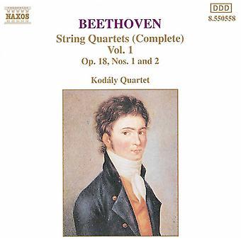 L.V. Beethoven - Beethoven: String Quartets (Complete), Vol. 1 [CD] USA import