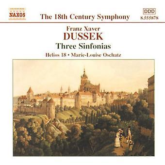 F.X. Dussek - Dussek: Trois Sinfonias [CD] USA import
