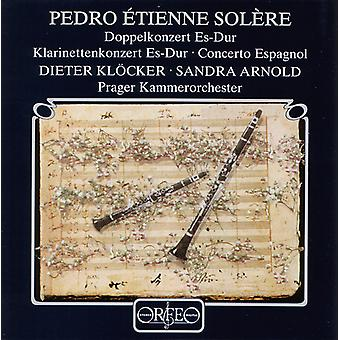 P.E. Solere - Pedro  Tienne Sol Re: Doppelkonzert Es-Dur; Klarinettenkonzert Es-Dur; Concerto Espagnol [CD] USA import