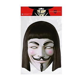 V For Vendetta Single 2D Card Party Face Mask