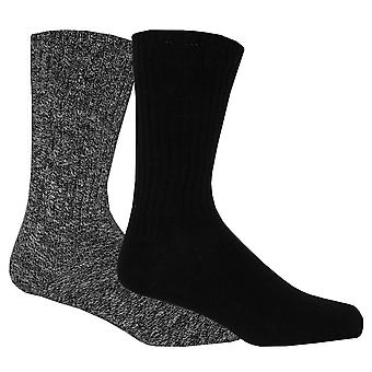 Calvin Klein 2-Pack Ribbed Cotton Boot Socks, Black