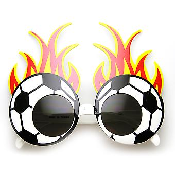 Soccer Ball Basketball Baseball Fire Flame Sports Team Party Novelty Glasses