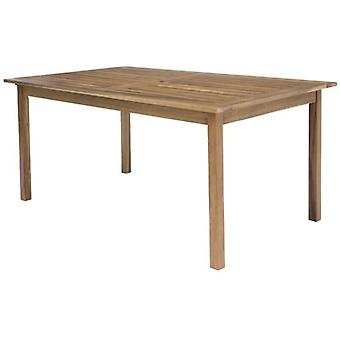 Ldk Table rectangulaire acacia solide 150x90x74 cm nina