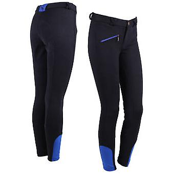 QHP Ridingbreeches Junior Leather Seat (Horses , Rider equipment , Clothes , Trousers)