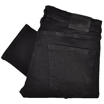 True Religion Tony Skinny Stretch Midnight Black Jeans