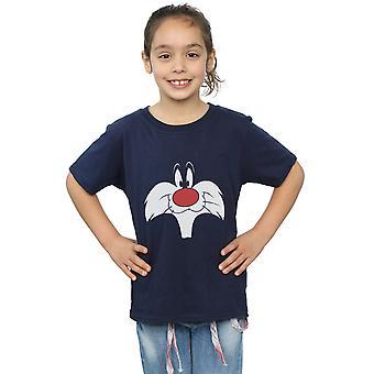 Looney Tunes niñas Sylvester cara grande t-shirt
