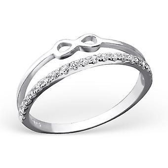 Infinity - 925 Sterling Silver Jewelled Rings - W23266x