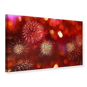 Leinwand drucken buntes Feuerwerk