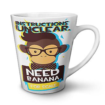 Need Banana Monkey NEW White Tea Coffee Ceramic Latte Mug 17 oz | Wellcoda