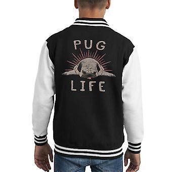 Pugs Life Kid's Varsity Jacket