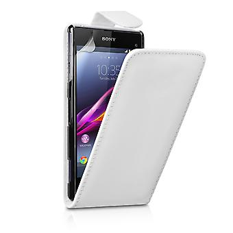 Sony Xperia Z1 Compact Leather-Effect Flip Case - White