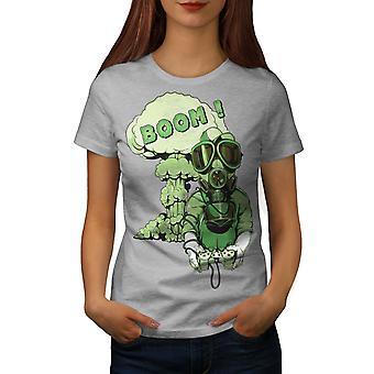 Gaming Boom Toxic Geek Women GreyT-shirt | Wellcoda