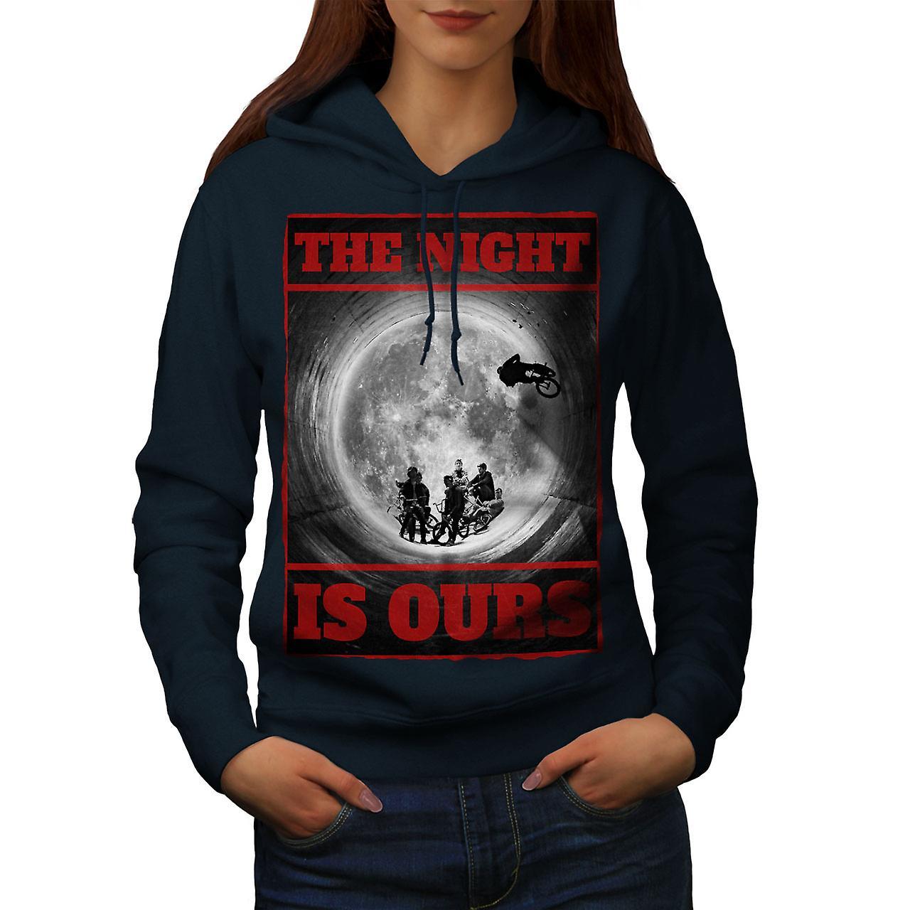 Nuit lune BMX Fashion femmes NavyHoodie