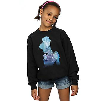 Disney Princess Girls Cinderella Filled Silhouette Sweatshirt
