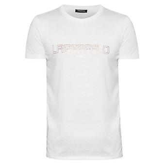 Lagerfeld Lagerfeld White Chest Logo T-Shirt