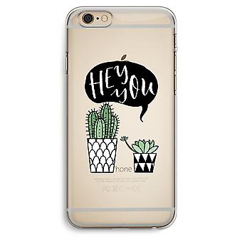 iPhone 6 Plus / 6S Plus Transparent Case (Soft) - Hey you cactus