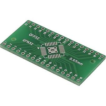 Prototyping PCB Epoxide (L x W) 40.64 mm x 20.25 mm 35 µm Contact spacing 2.54 mm Conrad Components QFN-QFP32 Content 1