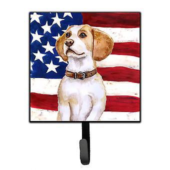 Carolineøerne skatte BB9686SH4 Beagle patriotiske snor eller nøgleringe