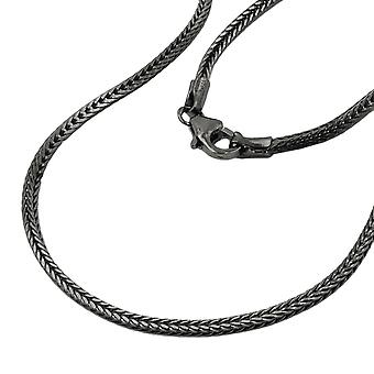 Fox-tail chain silver 925 necklace