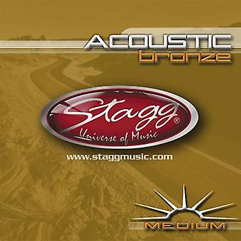 Jeu de cordes acoustiques Bronze de Stagg - Medium