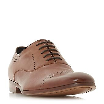 Dune Mens PICKFORD Punched Brogue Shoe in Tan