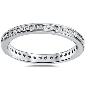 1/2ct Diamond Channel Set Eternity Ring 14K White Gold