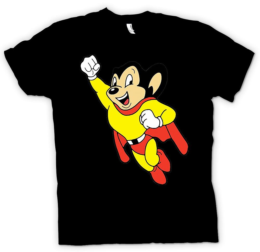 Womens T-shirt - Mighty Mouse - Cartoon - Funny