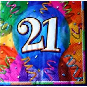 21e verjaardag briljant Party servetten