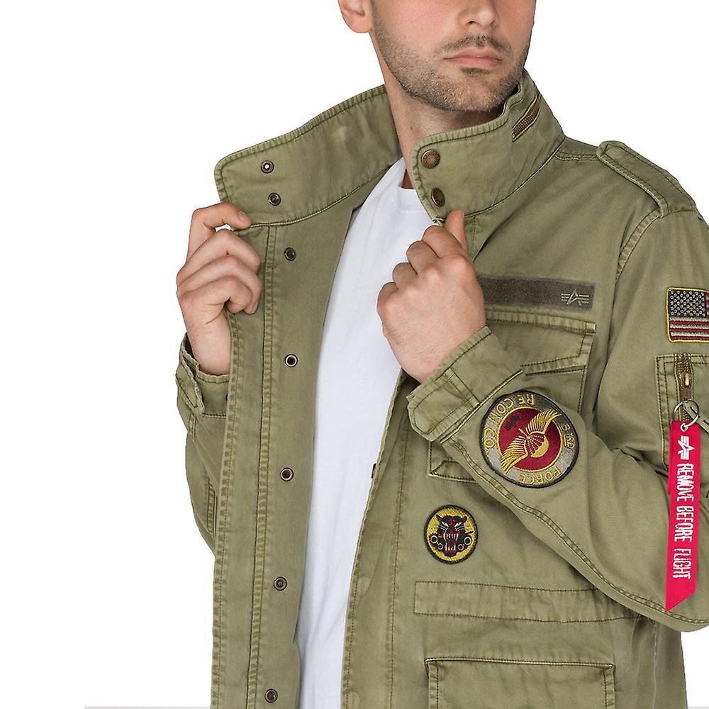 3f41bae979be Alpha industries men's jacket Huntington patch   Fruugo