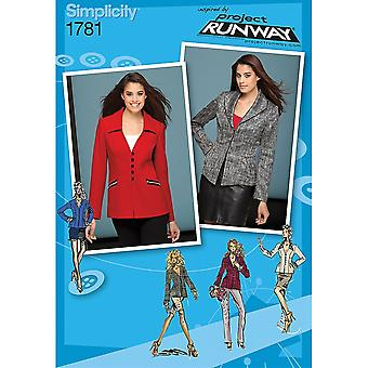 Misses' Jackets Project Runway Collection-14-16-18-20-22
