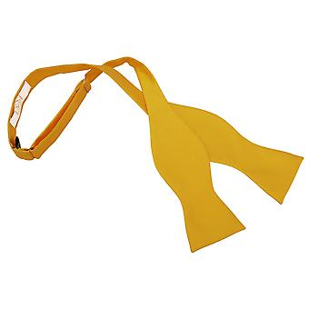 Sunflower Gold Solid Check Self-Tie Bow Tie