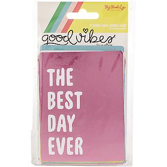 Good Vibes Double-Sided Journal Cards 24/Pkg-3