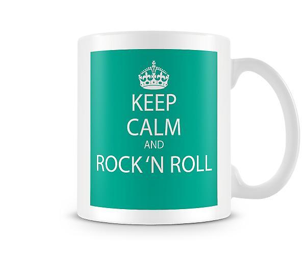 Kalmte bewaren en Rock N Roll bedrukte mok