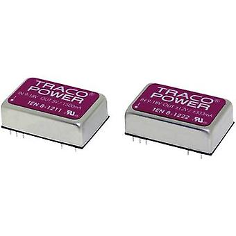 TracoPower TEN 8-7222WI DC/DC converter (print) 110 Vdc 12 Vdc, -12 Vdc 333 mA 8 W No. of outputs: 2 x