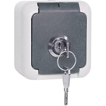 EMZ 102 337 Surface-mount socket Lockable, Keyed-alike IP44 Grey