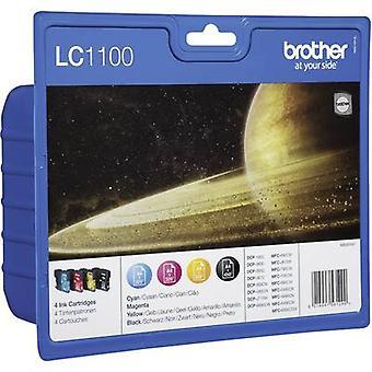 Brother Ink LC-1100 Original Set Black, Cyan, Magenta, Yellow LC1100VALBP