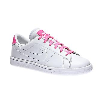 NIKE tennis classic premium genuine leather sneaker kids white